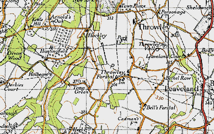 Old map of Tong Green in 1946