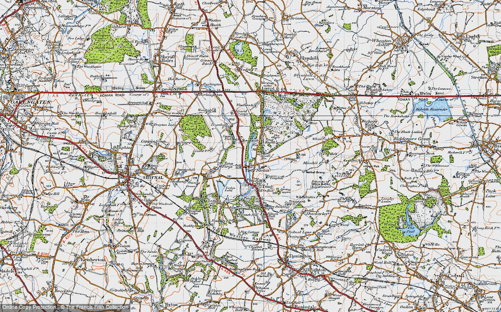 Old Map of Tong Norton, 1946 in 1946