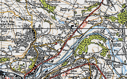 Old map of Tong Park in 1947