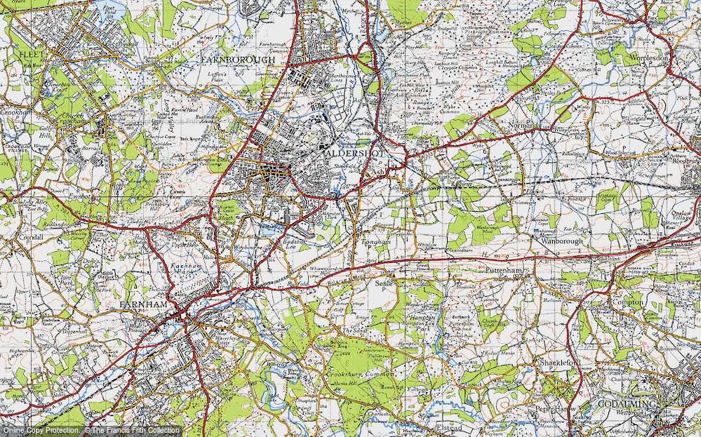 Old Map of Tongham, 1940 in 1940