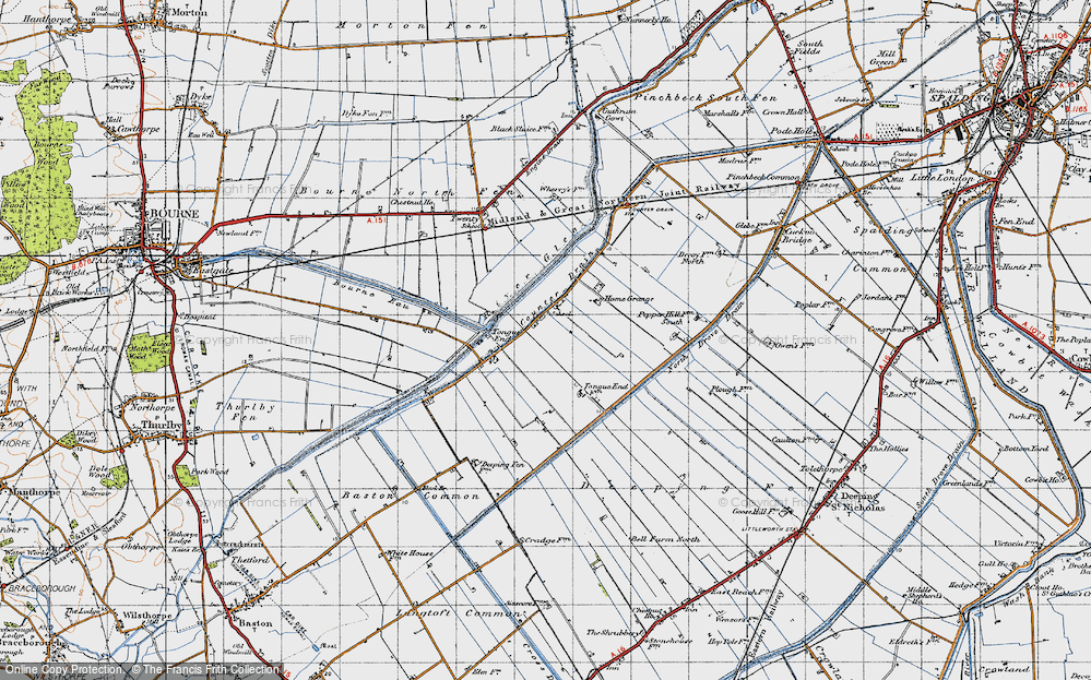 Old Map of Tongue End, 1946 in 1946