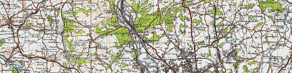Old map of Tongwynlais in 1947