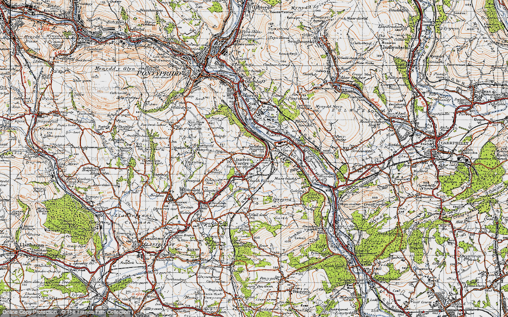 Old Map of Tonteg, 1947 in 1947