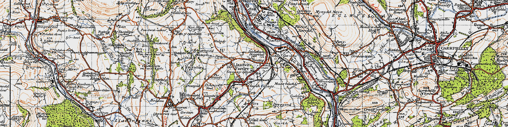 Old map of Tonteg in 1947