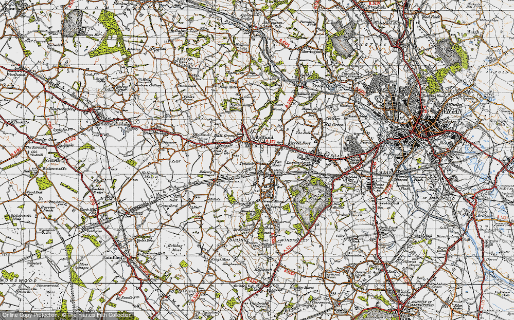 Old Map of Tontine, 1947 in 1947