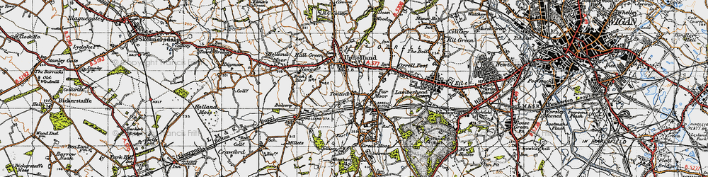 Old map of Tontine in 1947