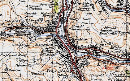 Old map of Tonypandy in 1947