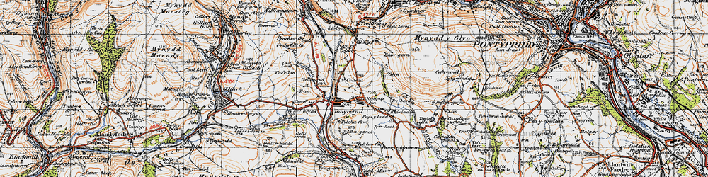Old map of Tonyrefail in 1947