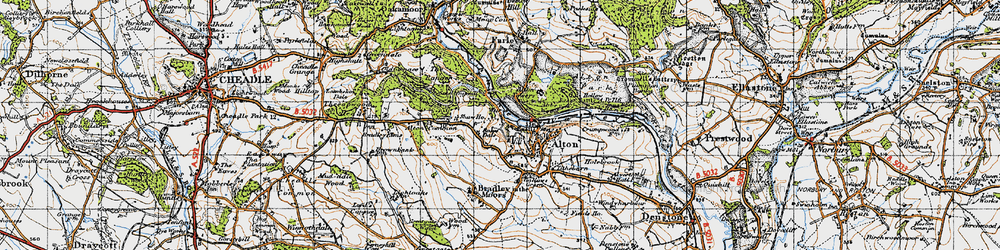 Old map of Toot Hill in 1946