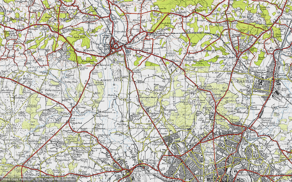Old Map of Toothill, 1945 in 1945