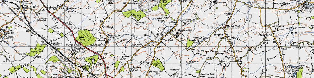 Old map of Worley's Wood in 1946