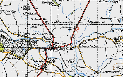 Old map of Topcliffe in 1947