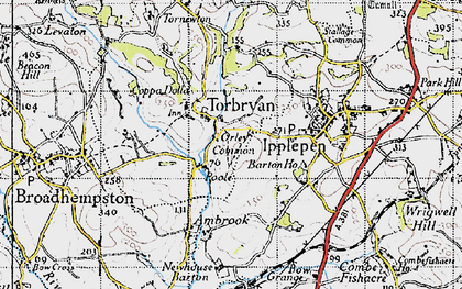 Old map of Torbryan in 1946