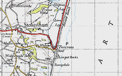 Old map of Limpet Rocks in 1946