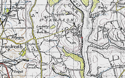 Old map of Torfrey in 1946