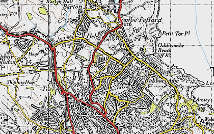 Old map of Torquay in 1946