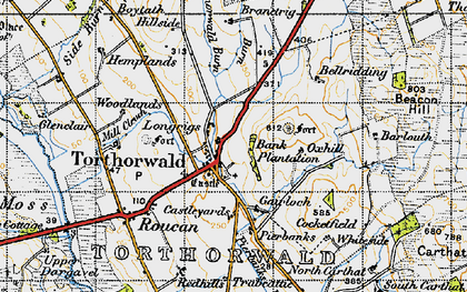 Old map of West Roucan in 1947