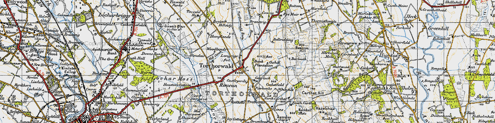 Old map of Tinlaw in 1947