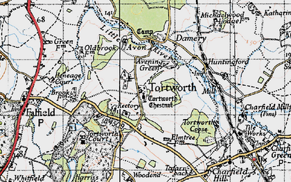 Old map of Tortworth in 1946