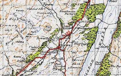 Old map of Ash Gill Beck in 1947