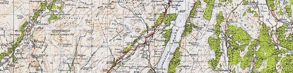 Old map of Torver in 1947