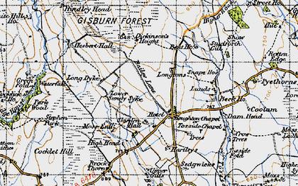 Old map of Whelpstone Lodge in 1947