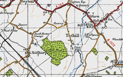 Old map of Toot Hill (Motte and Bailey) in 1946
