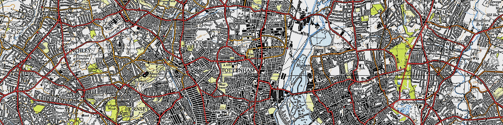 Old map of Tottenham in 1946