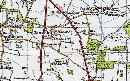 Old map of Westbriggs Wood in 1946