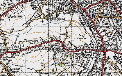Old map of Totteridge in 1946