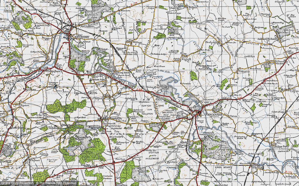 Old Map of Toulston, 1947 in 1947