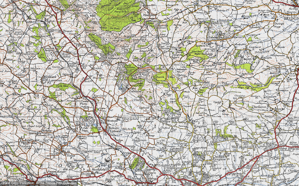 Old Map of Historic Map covering Badger Copse in 1946