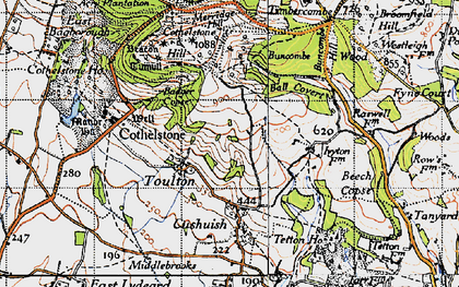 Old map of Badger Copse in 1946
