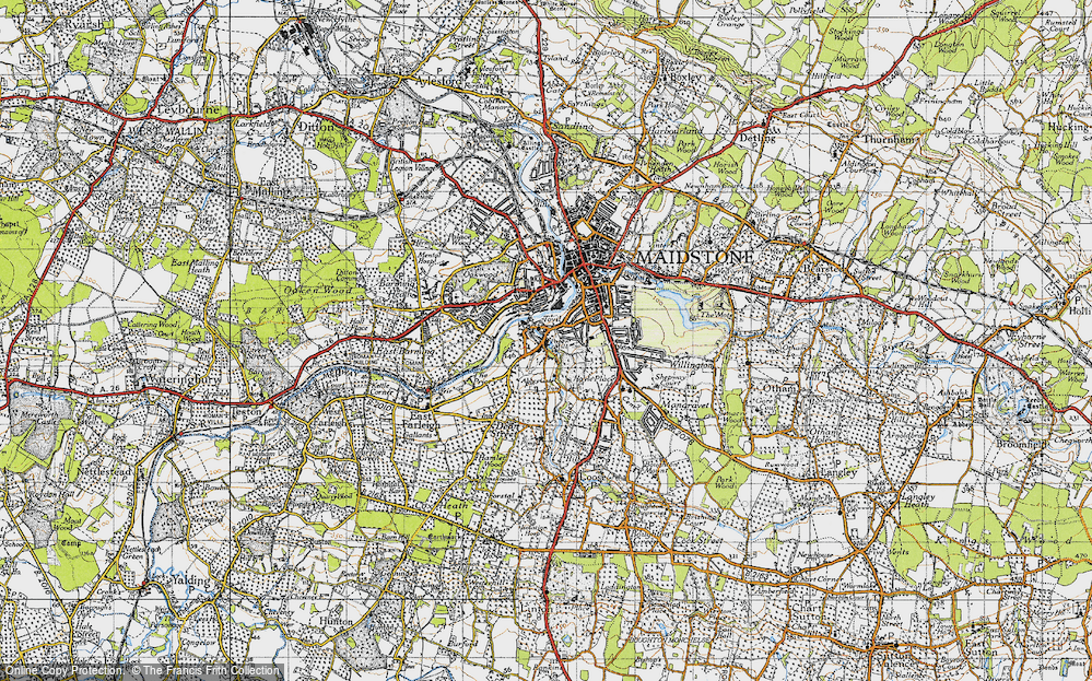 Old Map of Historic Map covering Abbey Gate Place in 1946