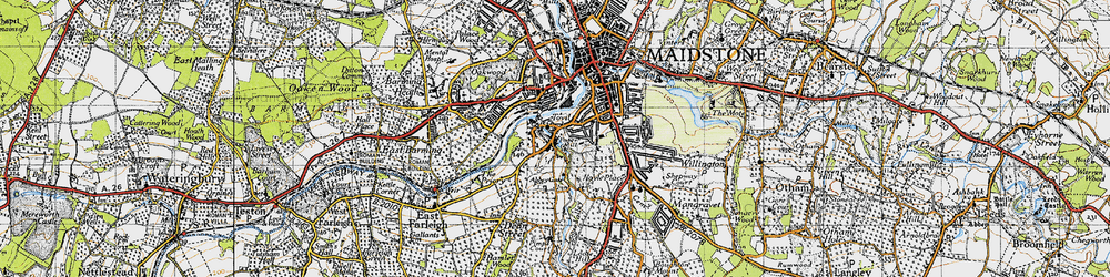 Old map of Abbey Gate Place in 1946
