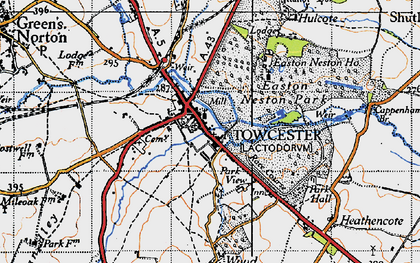 Old map of Towcester in 1946