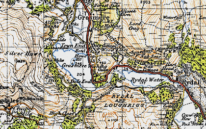 Old map of White Moss Common in 1947