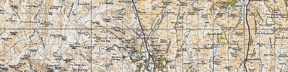Old map of Tongue Gill in 1947