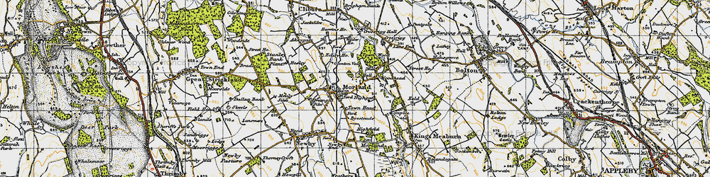 Old map of Winter Ho in 1947