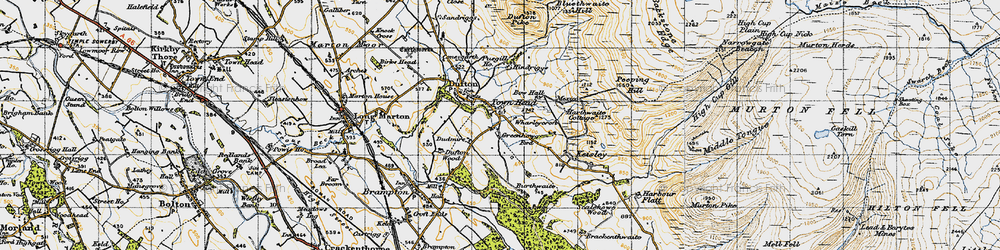 Old map of Wharleycroft in 1947
