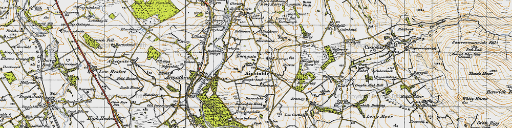Old map of Aimbank in 1947