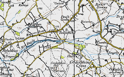 Old map of Townshend in 1946