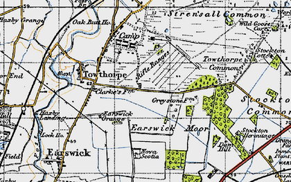 Old map of Wild Goose Carr in 1947