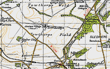 Old map of Badger Wood in 1947