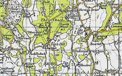 Old map of Toy's Hill in 1946