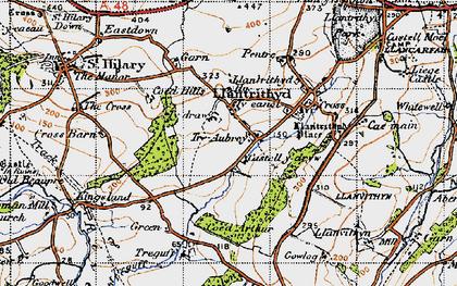 Old map of Wren's Castle in 1947