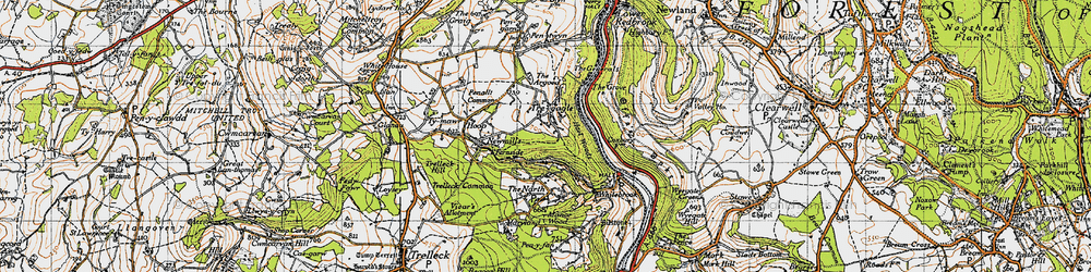 Old map of Argoed, The in 1946