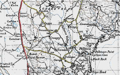 Old map of Treal in 1946