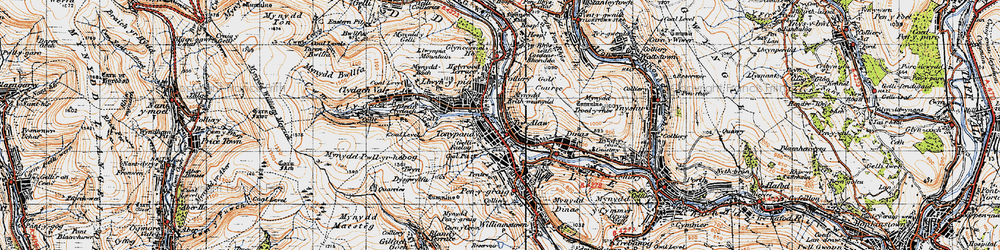 Old map of Trealaw in 1947