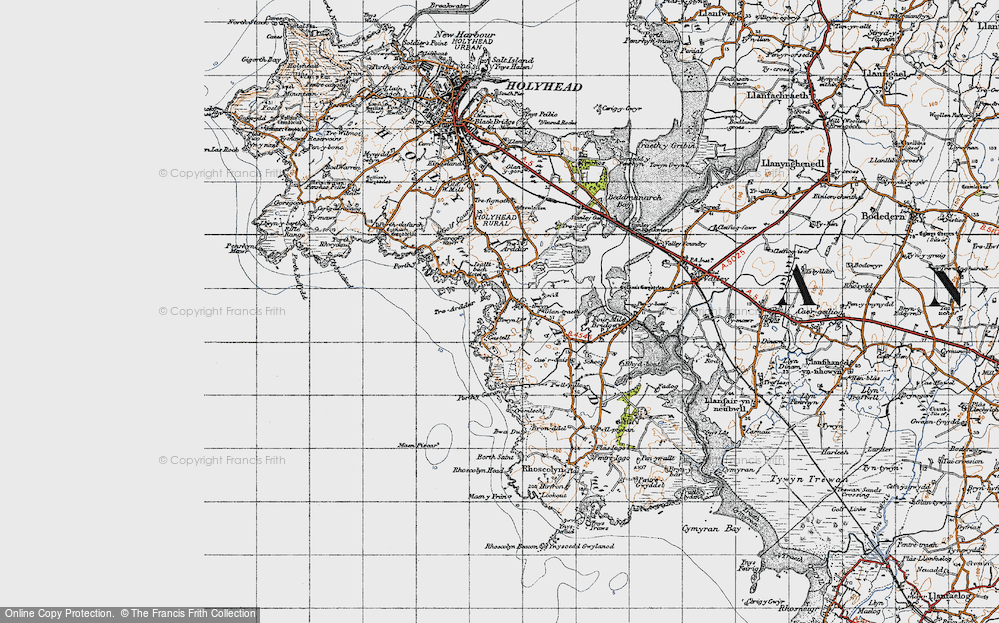 Old Map of Historic Map covering Bagnol in 1947